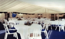 Marquee interior for business event