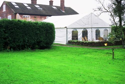 Marquee in garden setting