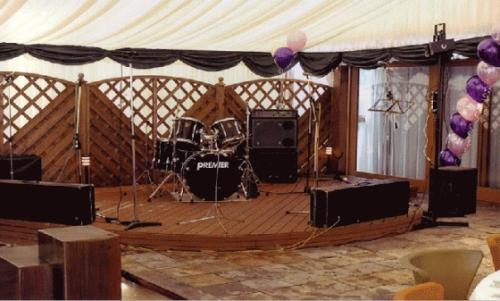 Party marquee band stage