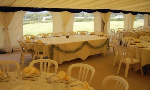Wedding marquee top table