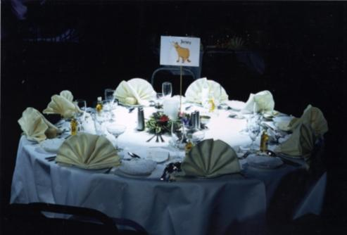 Marquee table dressing and lighting