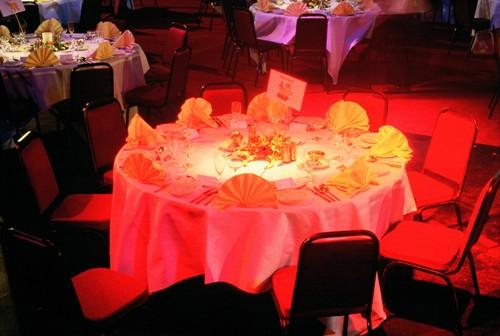 Marquee table dressing and lighting 2