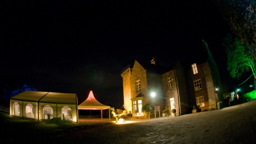 Marquee Hire - Evening function at Brimstage Hall